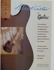 retro magazine advert 1991 GODIN ACOUSTICASTER