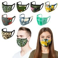 10 Pack - iFab Washable Reusable Cloth Face Mask 95% Poly, Assorted Design Print