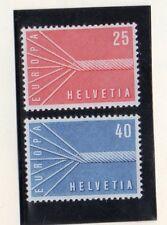 Suiza Europa CEPT Serie del año 1957 (DR-608)