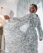 Giambattista Valli x H&M Cream Pink Floral Chiffon Midi Dress, UK 10 EU 38 US 6