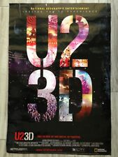 "U2 3D IMAX Movie Poster National Geographic Entertainment 2008 Large 27"" x 40"""