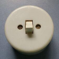 alter runder Schalter Lichtschalter Kippschalter Bauhaus Loft Kunststoff (4)