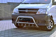 Toyota Hiace MK5 Cromo Eje empujar a-bar, Acero Inoxidable Bull Bar 2007 en adelante
