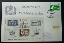 Britain Royal Silver Jubilee 1977 Queen Elizabeth FDC STAMPEX '77 *see scan Rare