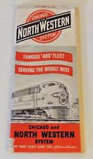 Vintage 1952 Chicago North Western System Union Pacific Overland Route Train Fun