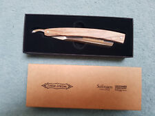 """Giesen & Forsthoff TIMOR Special 6/8"""" Straight Razor with Marblewood Handle USED"""