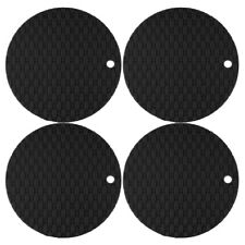 4Pcs Silicone Coaster Insulated Heat Resistant Non Slip Hot Pads Trivet Mat