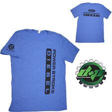 Ford Powerstroke Diesel Tee truck shirt DPP trucker gear 4X4 Blue XL