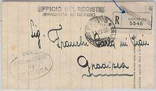 ITALIA REGNO / Slovenia -  BUSTA RACCOMANDATA in FRANCHIGGIA - Aidussina 1924
