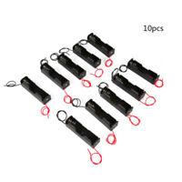 10PCS Black Plastic Battery Box Case Holder Switch For 3.7V 18650 Batteries
