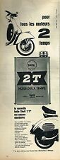 I- Publicité Advertising 1958 Huile Moteur Scooter 2 T Shell 2 temps