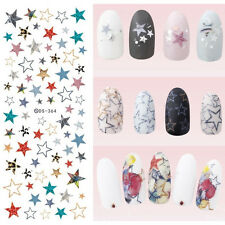 Nail Art Water Transfer Decals Manicure Stickers Decor Colorful Star Manicure