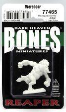 Reaper 77465 Wereboar (Bones) Were-Boar Boarman Beastman Warrior Miniature NIB