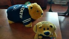 Penn State pillow pet w/ Orbiez  shaped like a football  both items are new.