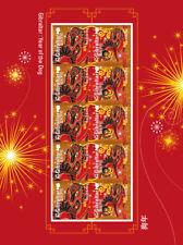 Gibraltar 2018 Chinees nieuwjaar jaar vd hond Year of the dog vel  postfris/mnh
