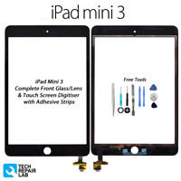 NEW iPad Mini 3 Complete Front Glass/Digitiser Touch Screen with Tools - BLACK