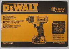 """DeWalt #DCF610S2: 12v 1/4"""" Screwdriver Kit"""