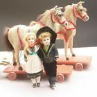 Rare Antique carriage Horse team with Jumeau porcelain dolls the perfect gift 👍
