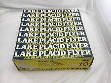 Vintage Lake Placid Flyer Ice Skates Aerflyte Figure Blades-Size 10 Stock 684