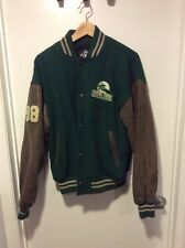 Vintage Grand Prix Equestrian Team Bomber Jacket Sz M Green