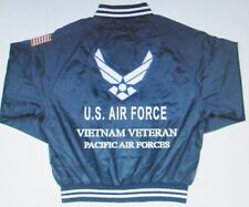 PACIFIC AIR FORCES*VIETNAM VETERAN*AIR FORCE EMBROIDERED 2-SIDED SATIN JACKET