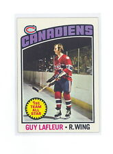 1976-77 TOPPS GUY LAFLEUR CARD #163 NM-NMMT NO CREASES (490)