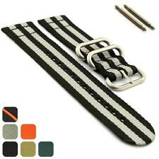 Two-Piece NATO Military Nylon Watch Strap Band Divers 18 20 22 24 26 Strong MM