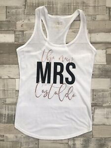 The New MRS Top Personalised Custom Wedding Honeymoon Hen Party T-Shirt or Vest