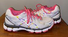 Asics Women GT 2000 Gel Running Shoes Pink/ White/ Yellow Size 8.5