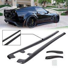 For 05-13 Corvette C6 Z06 ZR1 Style BLACK Side Skirts Rocker Panels