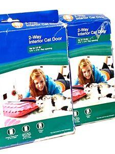 Interior 2-Way Locking Cat Flap Entry Pet Exit Enter PetSafe Lot of 2 ea