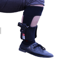Concealed carry Ankle band  / leg strap holster with magazine pocket. Soft Case