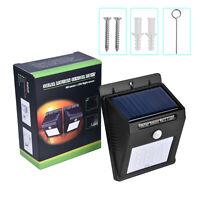 8/16 LED Solar Power Wireless Night Light Motion Sensor Wall Light Lamp Outdoor