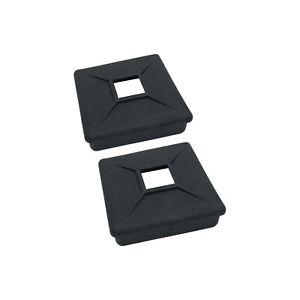 """4"""" Square Rubber Bumper Plug End Cap Cover RV Camper Trailer - 2 Pack"""