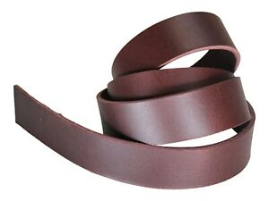 """West Tan Matte Water Buffalo Leather Belt Strips, Aniline Dyed 48-52"""" Straps"""