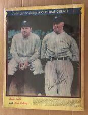 Police Gazette Original Vintage Poster Babe Ruth & Lou Gehrig New York Yankees