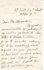 "BESSIE VAN VORST 1906 AUTOGRAPH LETTER - Author of ""Letters to Women in Love"""