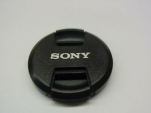49mm Front Lens Cap Center Pinch Snap on for Sony Camera Plastic OEM
