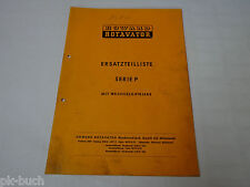 Parts Catalog Howard Rotavator Series P with Changing Gearbox, Stand 03/1974