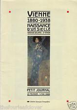 Vienne 1880-1938 Naissance d'un siecle 1986 Exhibition Book Petit Journa Rare Fr
