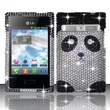 For LG Optimus Logic L35G Dynamic L38G Crystal BLING Hard Case Cover Panda