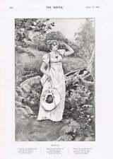 1901 Miss Violet Vanbrugh Criterion Theatre Phyllis Wind Tossed Hair