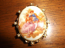 Limoges Photo Locket with Pearl Accents
