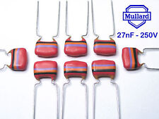 Mullard Tropical Fish Capacitors  27nF - 250V   x 150 pieces