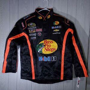 Tony Stewart Bass Pro Shops Jacket Coat Black  Mens Large L Post Prod. RARE NWT