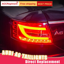 For Audi A6 LED Taillights Assembly Red LED Rear Lamps 2005-2008