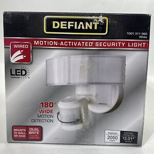 Defiant 180° White LED Motion Outdoor Security Light 1001311060 Wall Mount