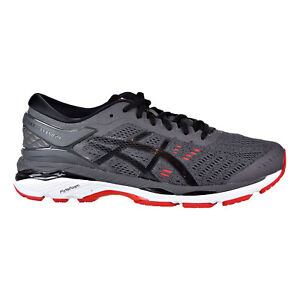 Asics Gel Kayano 24 Men's Running Shoes Dark Grey-Black-Fiery Red T749N-9590