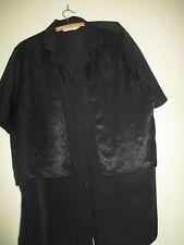 B BIB MADE IN AUSTRALIA WOMEN'S SIZE 16 BLACK SHORT SLEEVE TOP/BLOUSE/SHIRT POLY