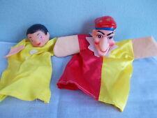 2 Vintage hand puppet - 2  poppenkast poppen